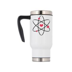 Travel mug Molecule of hearts