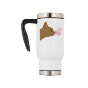 Travel mug Butterfly on the cat's nose