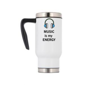 Travel mug Music is my energy