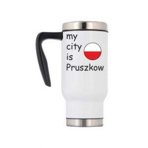 Travel mug My city is Pruszkow