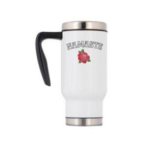 Travel mug Namaste rose