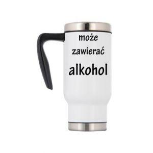 Kubek termiczny Napis - Może zawierać alkohol