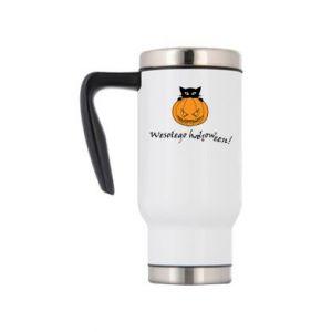 Travel mug Inscription: Happy Halloween - PrintSalon