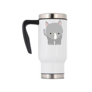 Travel mug Rhinoceros