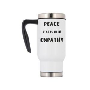 Kubek termiczny Peace starts with empathy
