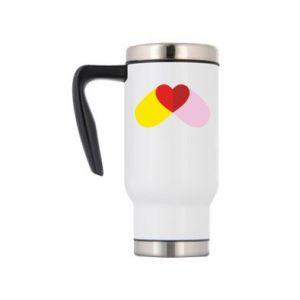Travel mug Heart pill