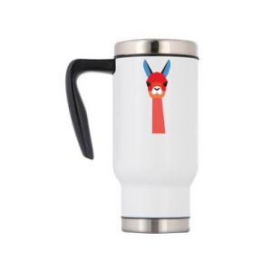 Travel mug Pink alpaca