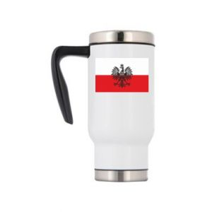 Travel mug Polish flag