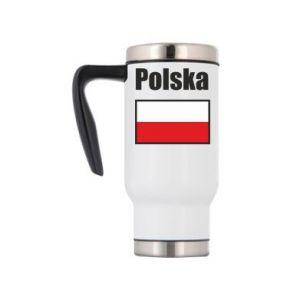 Kubek termiczny Polska i flaga