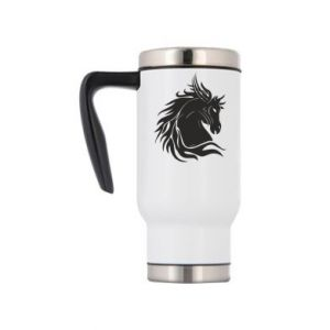 Travel mug Horse portrait - PrintSalon