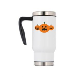 Travel mug Pumpkins with scary faces - PrintSalon