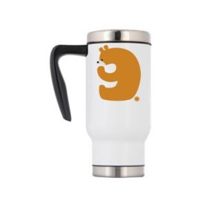 Travel mug Figure bear for 9 years