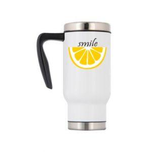 Kubek termiczny Smile lemon