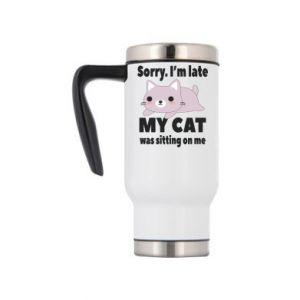 Travel mug Sorry, i'm late