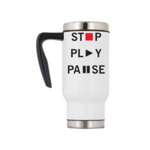 Kubek termiczny Stop. Play. Pause.