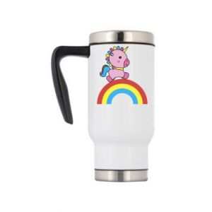 Travel mug Rainbow pony