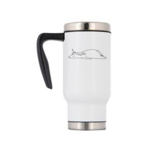 Travel mug Tired unicorn - PrintSalon