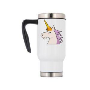 Travel mug Unicorn pleased with itself