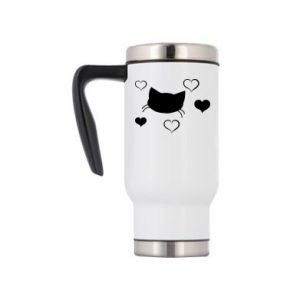 Travel mug Cat in love