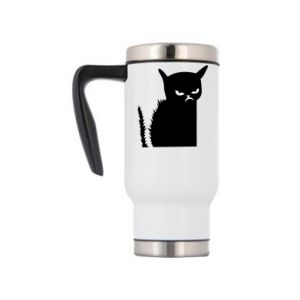 Travel mug Angry cat