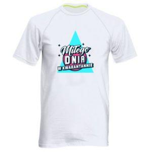 Męska koszulka sportowa Kwarantanna