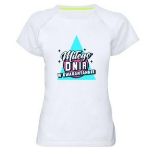 Damska koszulka sportowa Kwarantanna