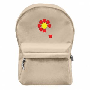 Backpack with front pocket Flower of hearts