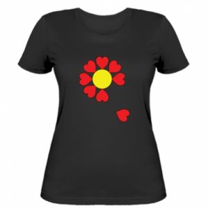 Damska koszulka Kwiat serc - PrintSalon