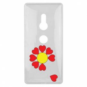 Etui na Sony Xperia XZ2 Kwiat serc