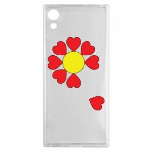 Etui na Sony Xperia XA1 Kwiat serc