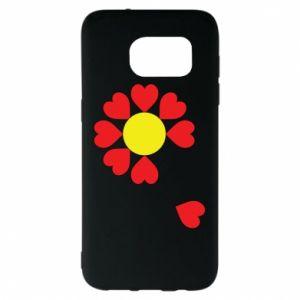 Etui na Samsung S7 EDGE Kwiat serc