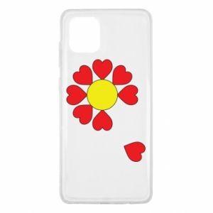 Etui na Samsung Note 10 Lite Kwiat serc