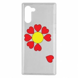 Etui na Samsung Note 10 Kwiat serc
