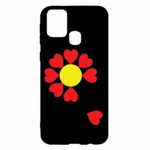 Etui na Samsung M31 Kwiat serc