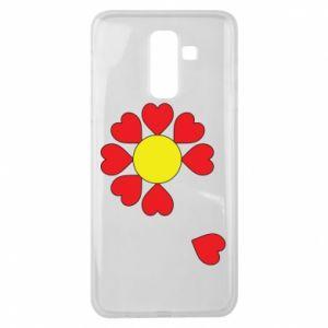 Etui na Samsung J8 2018 Kwiat serc