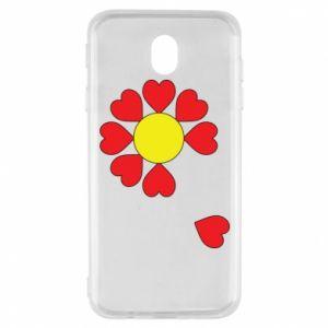 Etui na Samsung J7 2017 Kwiat serc