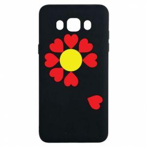 Etui na Samsung J7 2016 Kwiat serc