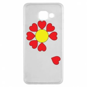 Etui na Samsung A3 2016 Kwiat serc