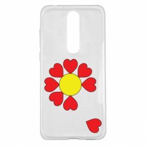 Etui na Nokia 5.1 Plus Kwiat serc