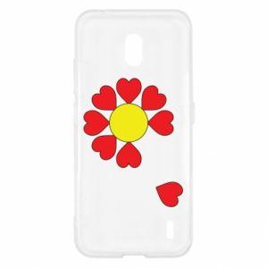 Etui na Nokia 2.2 Kwiat serc