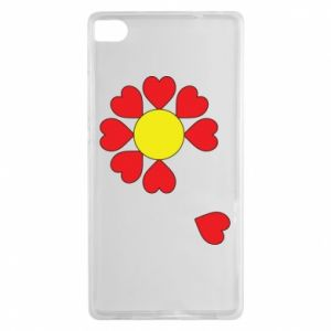 Etui na Huawei P8 Kwiat serc