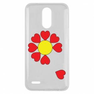 Etui na Lg K10 2017 Kwiat serc