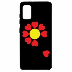Etui na Samsung A41 Kwiat serc
