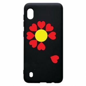 Etui na Samsung A10 Kwiat serc