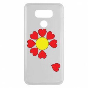 Etui na LG G6 Kwiat serc