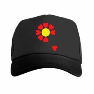Czapka trucker Kwiat serc - PrintSalon