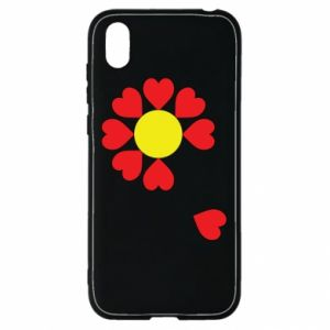 Etui na Huawei Y5 2019 Kwiat serc
