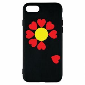 Etui na iPhone SE 2020 Kwiat serc
