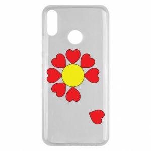 Etui na Huawei Y9 2019 Kwiat serc