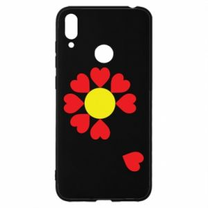 Etui na Huawei Y7 2019 Kwiat serc